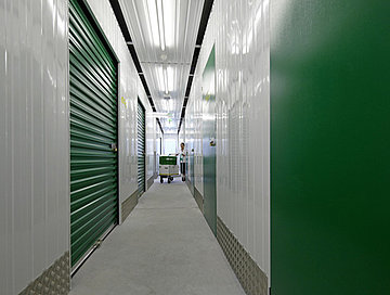 Clean and secure Self Storage corridors